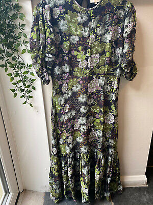 £60 • Buy By Timo Floral Print Mid To Long Dress Size L