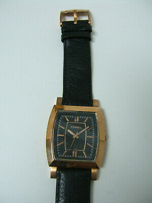 $29.99 • Buy Fossil Rose Gold Watch Black Leather Band Photo Sample For Parts & Repair Only