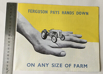 AU28.03 • Buy Ferguson Original Tractor And Implements Foldout Poster