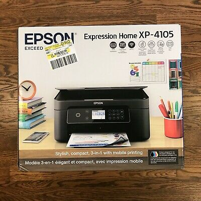 AU121.58 • Buy New Epson Expression Home XP-4105  Wireless All-in-One Color Inkjet Printer