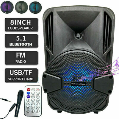 $38.96 • Buy 8'' Portable FM Bluetooth Speaker 1000W Subwoofer Heavy Bass Sound System Party