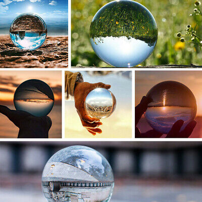 £4.99 • Buy 60/80/100mm Clear Glass Crystal Healing Ball Photography Lens Sphere Decor Gifts