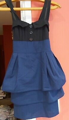 £10 • Buy WAL G Made In Italy Stunning Peplum Party Dress Small Pre-worn V Good Condition