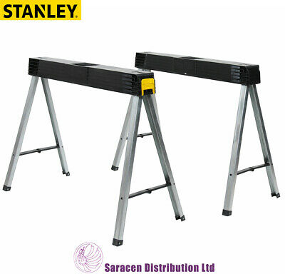 £64.98 • Buy Stanley Fold Up Saw Horse, Twin Pack - 1-97-475