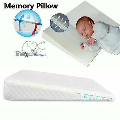 £12.99 • Buy Baby Wedge Pillow Flat Head AntiReflux Colic Cushion For Pram Crib Cot Bed 68x33
