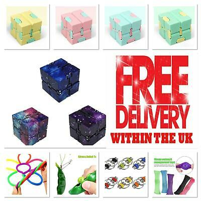 £2.89 • Buy Sensory Infinity Cube Stress Fidget Toys Autism Anxiety Relief Kids Adults Gift*