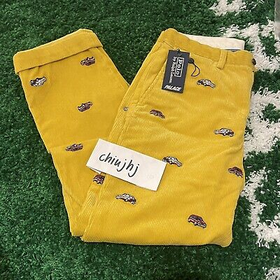 $343.93 • Buy Palace X Polo Ralph Lauren Embroidered GTI Cord Pants, Yellow, Size 30