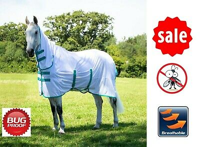 £24.65 • Buy MESH FLY RUG Bridleway Full Neck Combo Horse Bug Rug With Belly & Tail Flap 6ft6