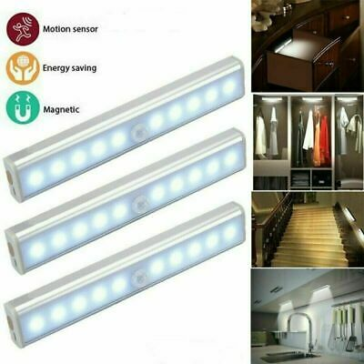 £12.99 • Buy Human Body Infrared Induction LED Night Light Cabinet Closet Stair Wardrobe Lamp
