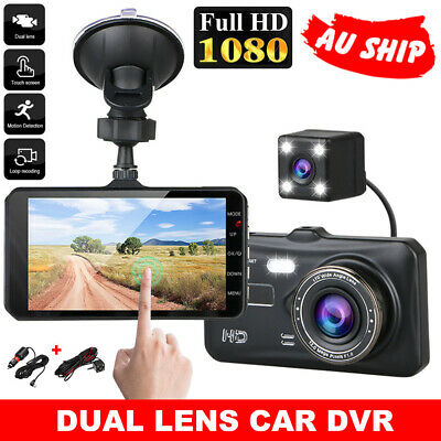 AU46.95 • Buy Car Dash Camera Touch Video Recorder Front And Rear Dual Lens Night Vision Cam