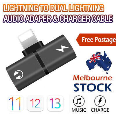 AU5.15 • Buy Dual Audio Headphone Adapter Charger Splitter For IPhone 12 11 Pro 8 7 X XS Max