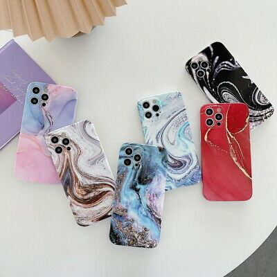 AU4.99 • Buy Back Case For IPhone 12 Pro Max 11 XS XR X 8 7+ Shockproof Silicone Marble Cover