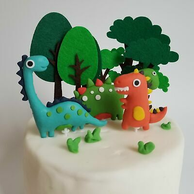 £3.99 • Buy Trees And Dinosaurs Cake Topper Children Kids Birthday Party Decoration Animal