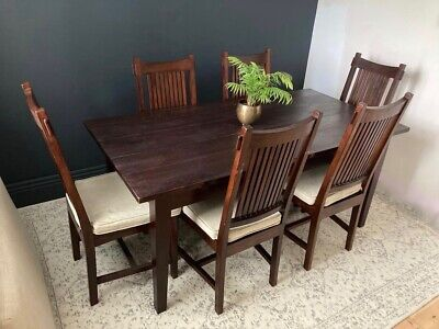 £495 • Buy Lombok Indonesian Solid Teak Wood Melang Dining Table ONLY -RRP£1200 CAN DELIVER