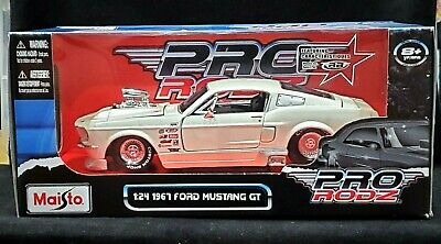 $39.99 • Buy MAISTO 67 1967 Ford Mustang GT Pro Rodz Pro Street Detailed Car 1:24 White