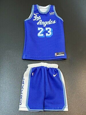 $35 • Buy Custom Made 1/6 Action Figure Lebron James Lakers #23 Jersey Fit Enterbay Blue