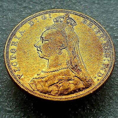 £395 • Buy 1892 Queen Victoria Jubilee Head ~ 22ct FULL Gold Sovereign (London Mint)