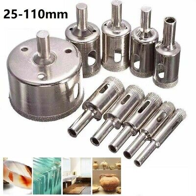 £5.12 • Buy Diamond Glass Drill Bit Core Tile Hole Saw Cutter For Stone Ceramic Φ 25-100mm