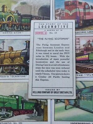£2.50 • Buy Kelloggs Collectable Trade Cards Story Of Locomotive Series 1 & 2 Take Your Pick