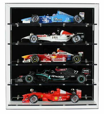 £127.99 • Buy Acrylic Wall Display Case For Five Large Modern 1:18 Scale Model F1 Cars