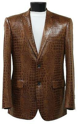 $13869 • Buy Bespoke Brown Hand Crafted Genuine Crocodile Leather Blazer Jacket Made In Italy