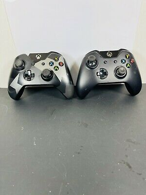 $31.95 • Buy 2x Xbox One Controllers Wireless Used. For Parts Or Repair
