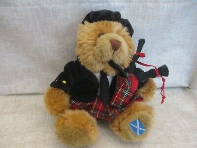 £5 • Buy  Keel Toys Scottish Piper In Kilt Playing The Bagpipes Teddy Bear
