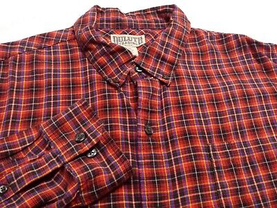 $19.50 • Buy Duluth Trading Co. Mens 2XL L/S Button-Down Multicolor Plaid Flannel Shirt