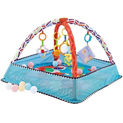 £31.33 • Buy Baby Gym Activity Play Mat With Hanging Toys Infant Playmat For Game Tummy Time