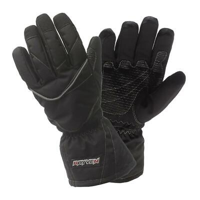 £17.49 • Buy Rayven Alpha Waterproof Motorcycle Gloves Textile Touring Bike Scooter Black