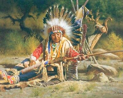 £6.99 • Buy 10 X 8  NATIVE AMERICAN RED INDIAN CHIEF METAL PLAQUE TIN SIGN OTHERS LISTED 858