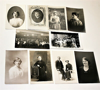 $25.02 • Buy Antique Vintage Photo Post Cards Lot Of 10 Loose Photographic Cards PC02L