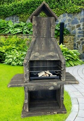 £899 • Buy XXL Masonry BBQ Barbecue, Garden Grill, Wood And Charcoal Cooking, Wood Effect
