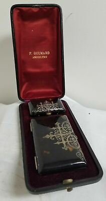 AU951.15 • Buy Antique Vintage Sterling Silver MOunted CIgarette Case Coin Purse French Box
