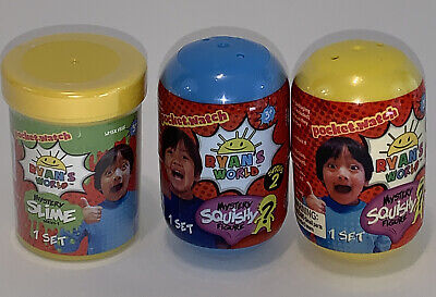 AU17.33 • Buy Ryan's World Mystery Squishy Figure Lot Of 2 Sealed New Capsules And 1 Slime