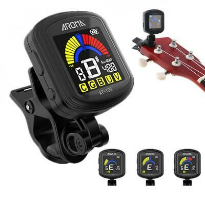 $ CDN10.77 • Buy AROMA Rechargeable Clip-on Guitar Tuner For Chromatic/Guitar/Bass/Ukulele/Violin