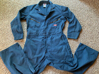 $18.99 • Buy Dickies Coveralls Navy Blue 44 Chest Regular Length Jump Suit