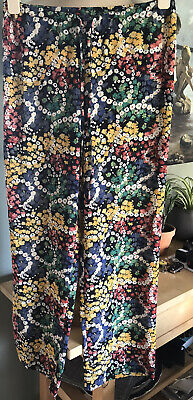 £7 • Buy Espirit Floral Patterned Trousers S