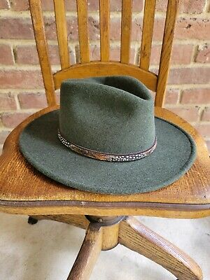 $39 • Buy Stetson Expedition Crushable Wool Felt Western Hat, Size Large USA Made
