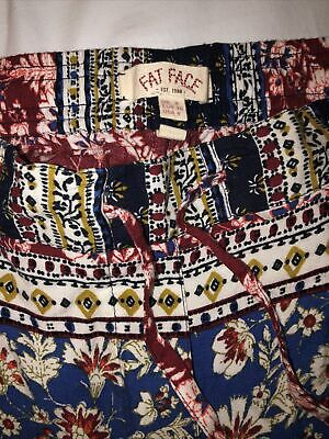 £14 • Buy Fat Face Patterned Harem Style Holiday Trousers Size 8