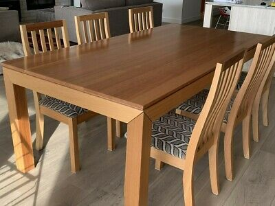 AU157.50 • Buy Dining Table And 6 Chairs, Solid Timber Vic Ash, Oz Design Furniture