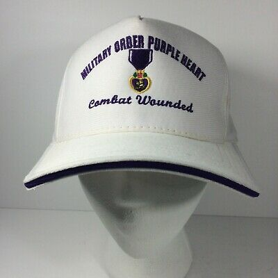 $18.95 • Buy Military Order Purple Heart Combat Wounded Vintage Purple White Snapback Hat USA