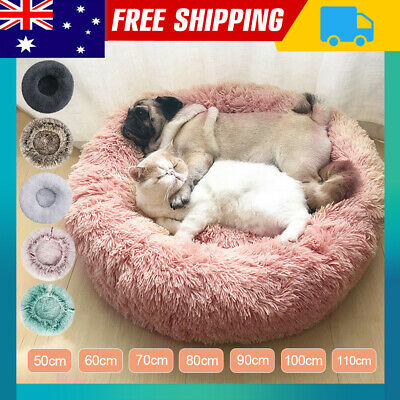 AU16.69 • Buy Pet Cat Dog Calming Bed Warm Soft Plush Round Nest Comfy Sleeping Kennel Cave E