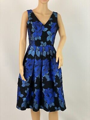 $ CDN69.07 • Buy Louche Luxe Jacquard Beaded Flared Elegant Retro Party Cocktail Dress Size 8
