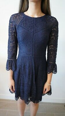AU25.99 • Buy Forever New Lace Dress Navy Blue