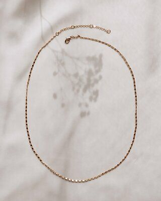 £24 • Buy Rock  N Rose Julia Simple Chain Necklace Gold Plated