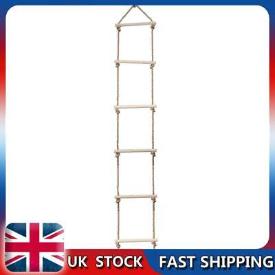 £20.79 • Buy  Wooden Rope Ladder Children Climbing Toy Safe Sports Rope Swing (6 Rungs)