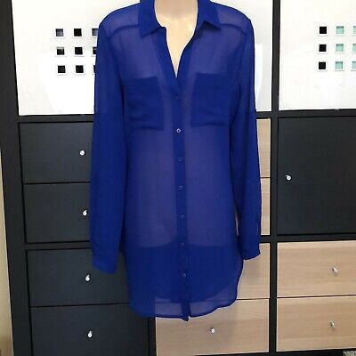 AU2.50 • Buy Forever New Long Blue Blouse – Size 8