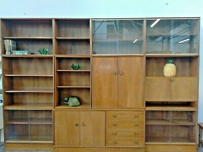 £199.99 • Buy Vintage Mid Century Very Large 8 Piece Minty Oxford Wall Unit