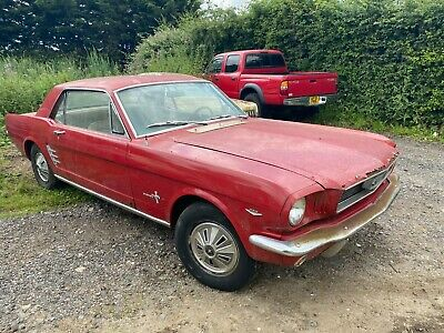 £9995 • Buy 1966 Ford Mustang V8 Red 3-speed Manual PROJECT Classic American Car